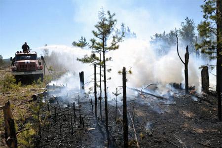 ВБратском районе сняли режим ЧС, связанный спожарами