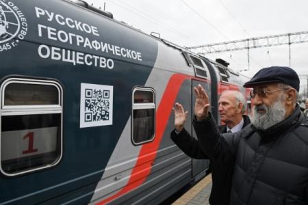 ИзМосквы воВладивосток отправился мультимедийный пассажирский поезд РГО