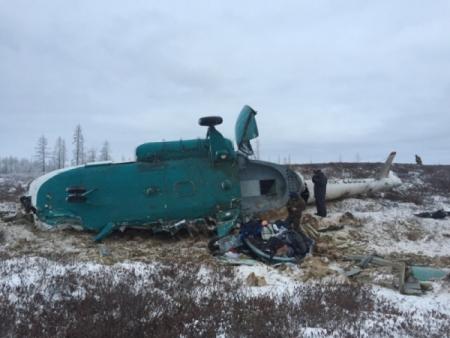 Вертолет ссибиряками наборту мог разбиться из-за нехватки топлива