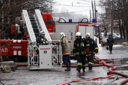 ВПерми сгорело сооружение спортивного центра «Кама»