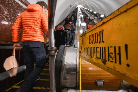 Пассажир нарельсах устроил коллапс нафиолетовой ветке метро