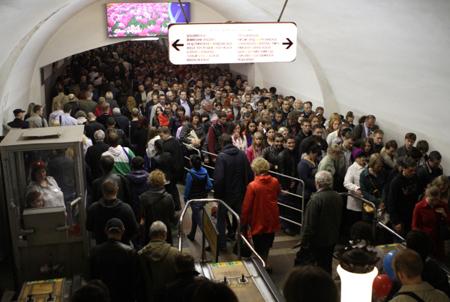 Больше всего пассажиров вметро вновогоднюю ночь насчитали на«Охотном Ряду»