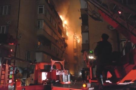 Вмикрорайоне Краснодара после пожара в высотном здании введён режимЧС