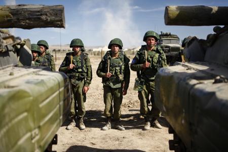 Подразделения ЮВО вАбхазии были подняты потревоге