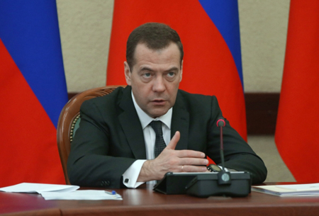 Д. Медведев прибыл вКазань