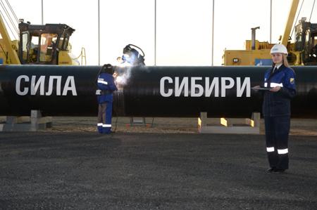 «Газпром» планирует кконцу 2017г построить неменее  1100 километров «Силы Сибири»