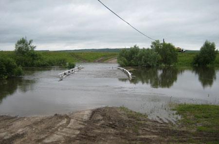 ВНижегородской области подтоплены три низководных автомобильных моста