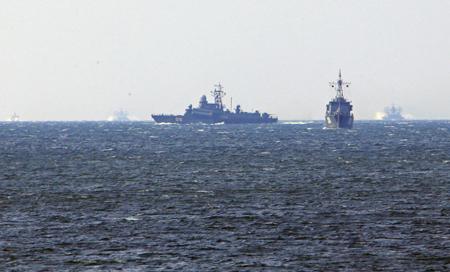 Отряд кораблей изКитая ожидают вБалтийске для общих учений