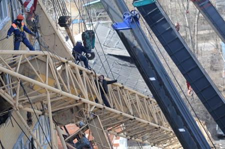 Упавший башенный кран вХимках забрал жизни 2 человек