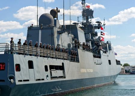 Фрегат Черноморского флота «Адмирал Григорович» прибыл нагреческий остров Корфу
