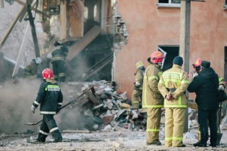 ВИжевске частично обвалился девятиэтажный дом