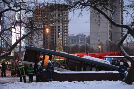 Пофакту наезда автобуса налюдей в российской столице  возбуждено дело