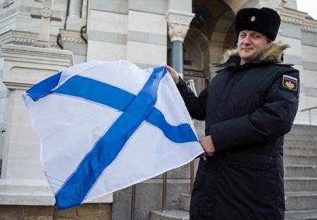 ВКалининграде торжественно подняли Андреевский флаг нановейшем сторожевом корабле «Адмирал Макаров»