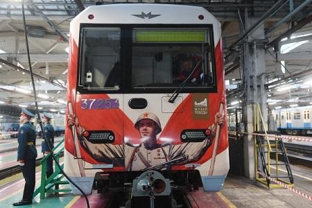 Улучшенный «Поезд Победы» запустили вмосковском метро