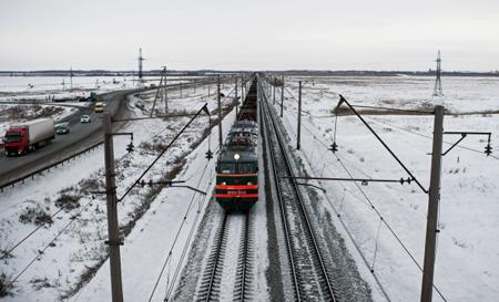 4 пустых вагона сошли срельсов настанции Гвоздево Уссурийской железной дороги