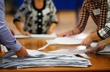 ЦИКРФ обнародовала результаты подсчёта 99% бюллетеней