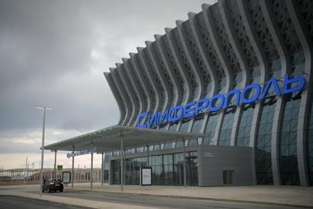 Новый терминал аэропорта Симферополь встретил 1-ый  самолёт
